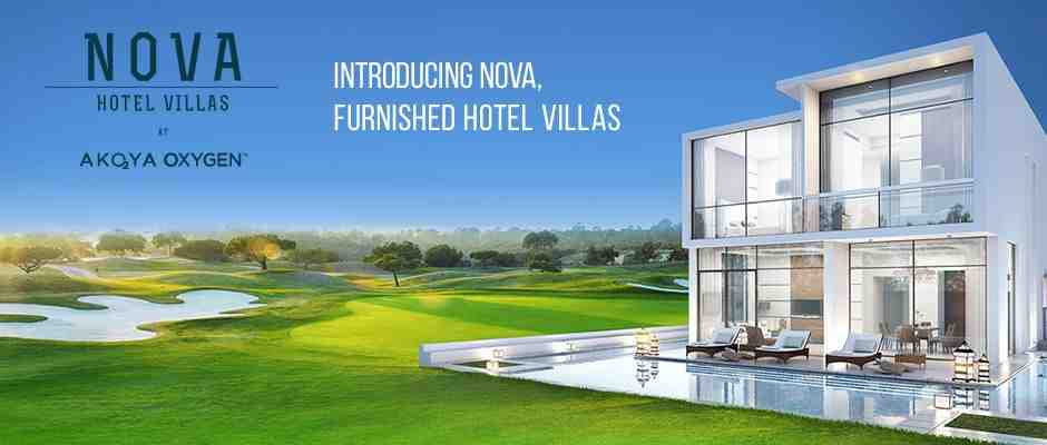 Luxury 3 bedroom furnished hotel villas at AKOYA Oxygen in Dubai from just INR 1 Crores per year for 3 year